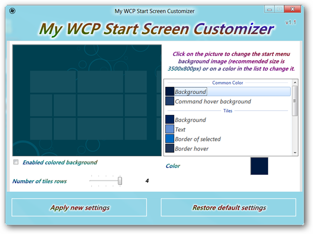 customize-start-screen-interface