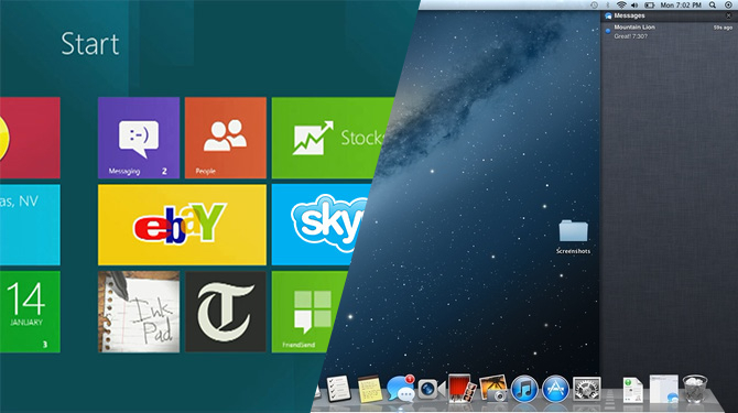 Apps for Mountain Lion vs  Windows 8 - Who is Doing a Better