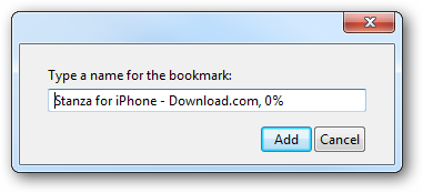 Type a name for the bookmark: