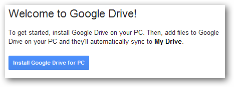Install Google Drive for PC