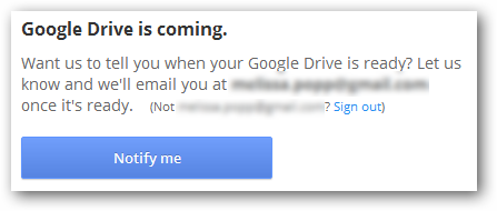 Google Drive is coming.