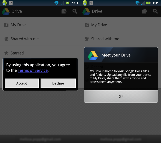 Terms of Service & Meet your Drive
