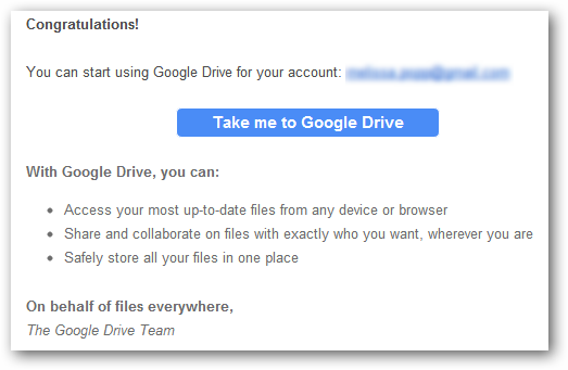 Take me to Google Drive
