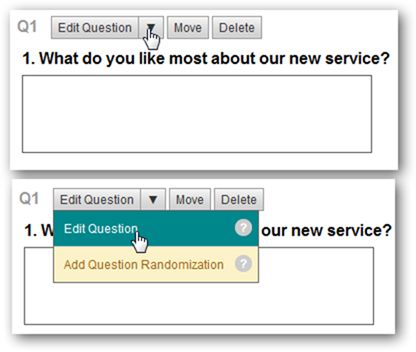How to edit the preset questions on Survey Monkey