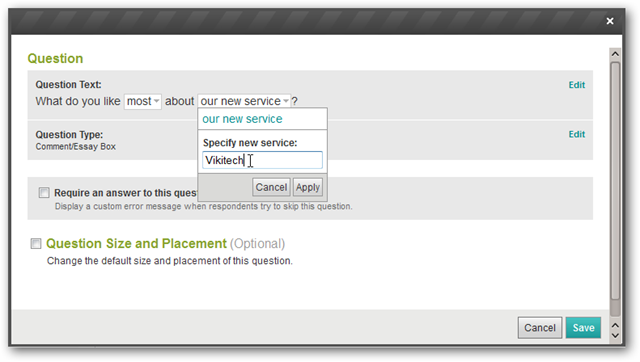 How to edit preset questions on Survey Monkey