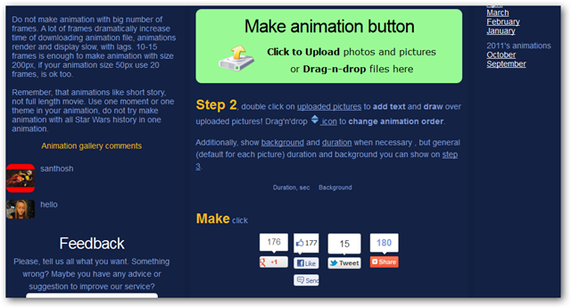 Website of Make Animation