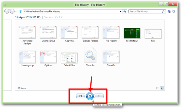 How To Use Windows 8 File History to Backup & Restore Files