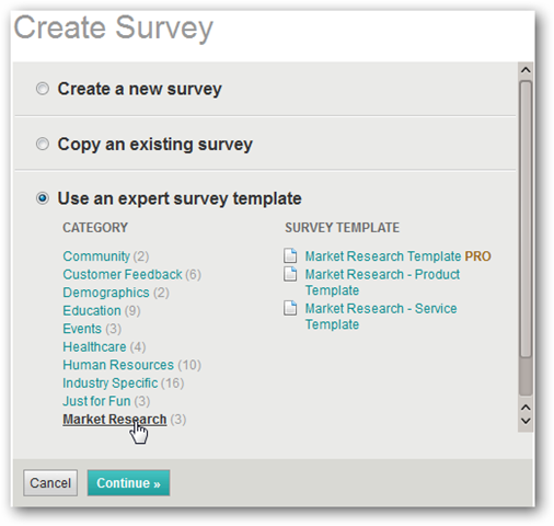 surveys templates free