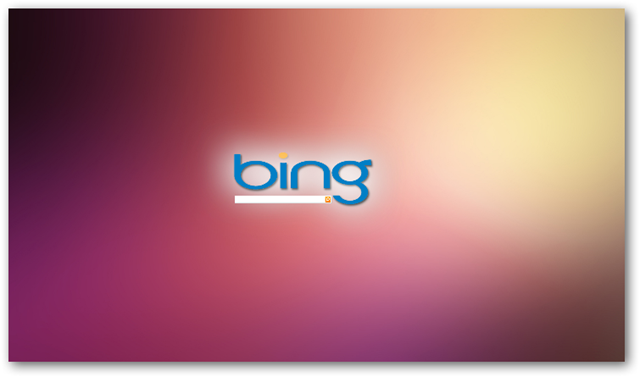 Bing search page