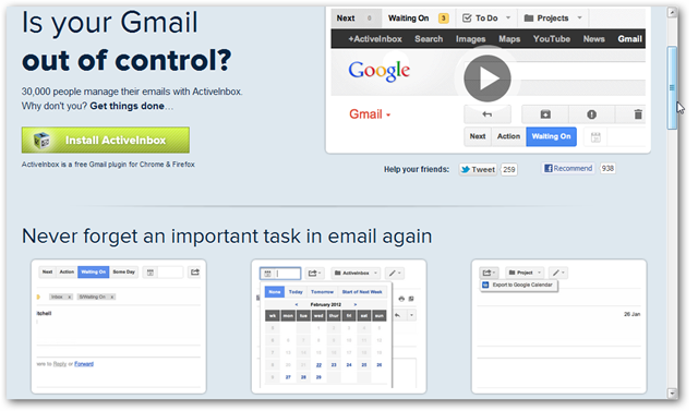 ActiveInbox Homepage