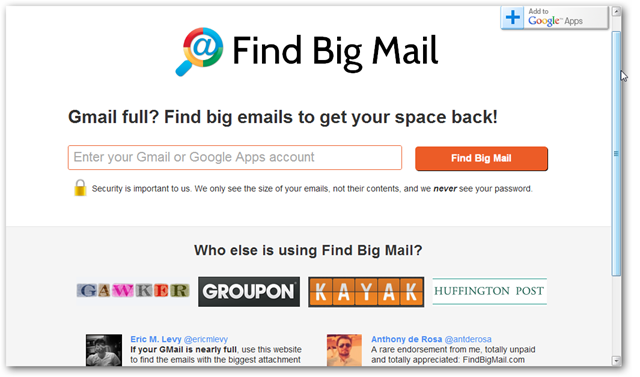 FindBingMail Homepage