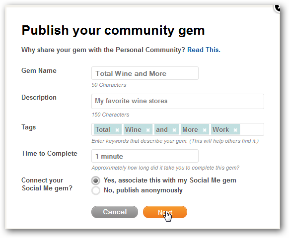 How to Publish a Gem to Personal Community