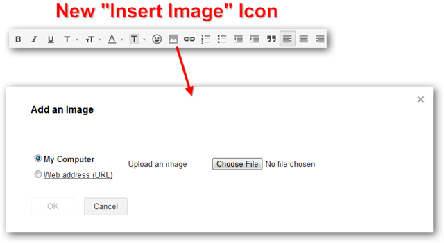 Insert Image Feature of Gmail Labs