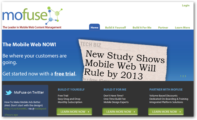 Mofuse Homepage