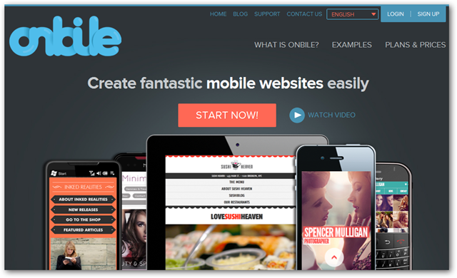 Onbile Homepage
