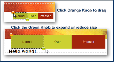 Orange and Green Knobs