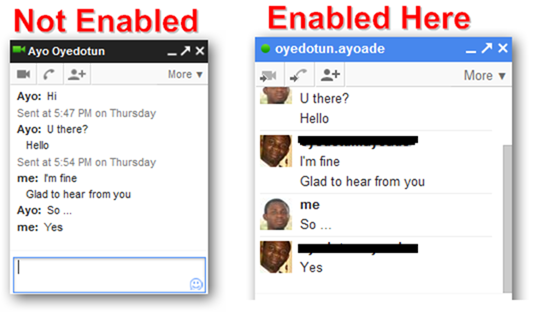 Pictures in Chat Feature of Gmail