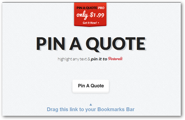"""Pin A Quote"" Homepage"