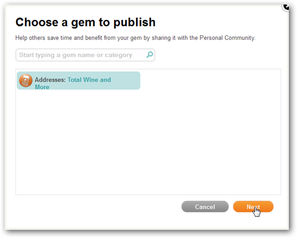 Choosing a Gem to Publish on Personal