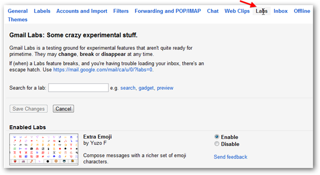How to Enable Gmail Labs Features