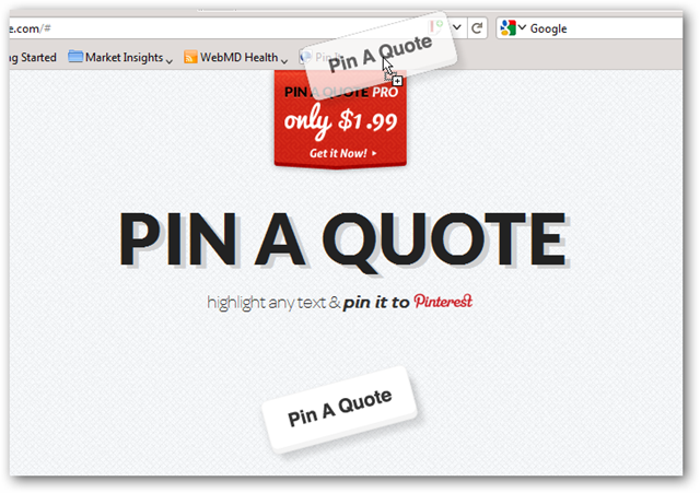 """Pin A Quote"" Bookmarklet to Toolbar"