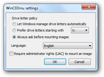 open-iso-image-settings
