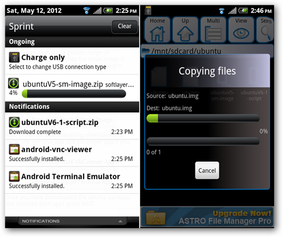 android-download-extract-zip-file-ubuntu