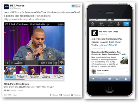 Expanded Tweets on Web and Mobile