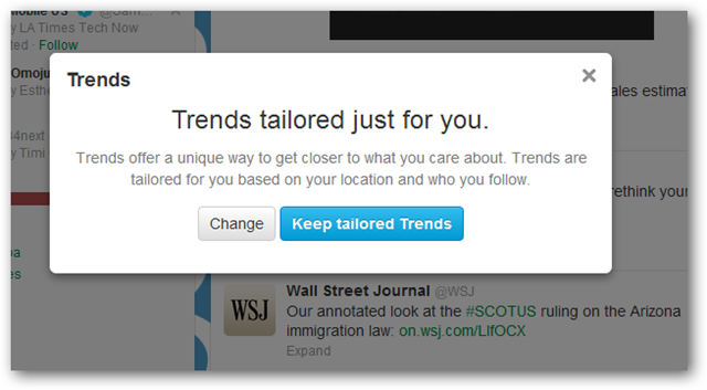 Tailored Twitter Trends