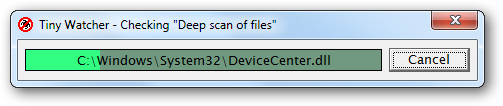 "Checking ""Deep scan of files"""