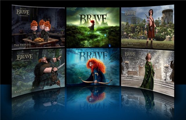 Brave theme for windows 7 animated movie theme for Window 07 themes