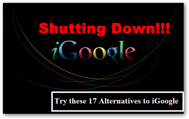 using-igoogle-alternatives