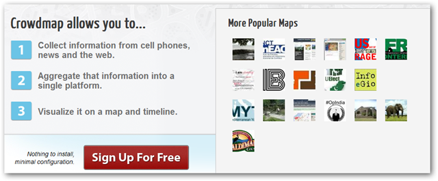 Image of Crowdmap Homepage