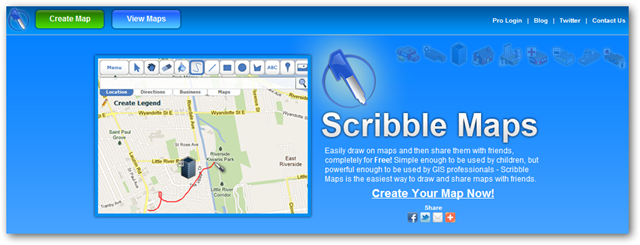 Image of Scribble Maps Homepage