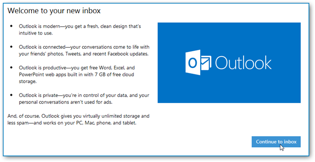 outlook-welcome-page
