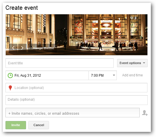 how to create a google hangout event