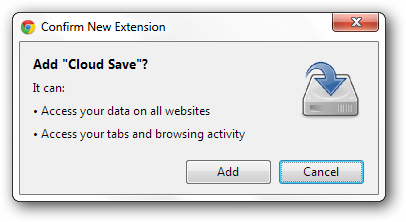 Cloud-Save-install-extension