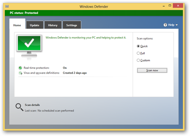 using-windows-defender-for-the-first-time