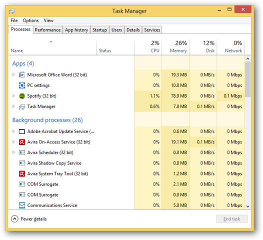 using-the-task-manager