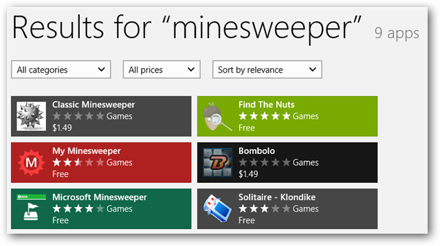 how to search in windows 8 store