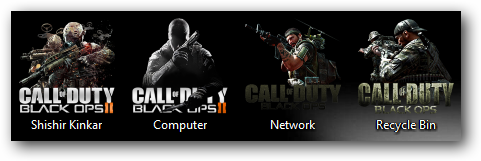 COD Black Ops 2 Theme Icons