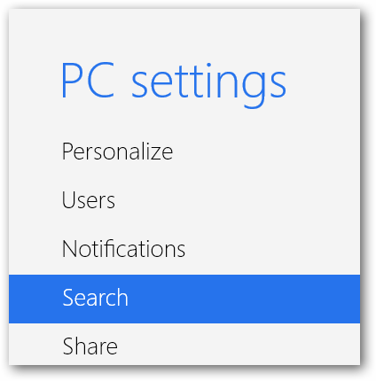 (2) search settings