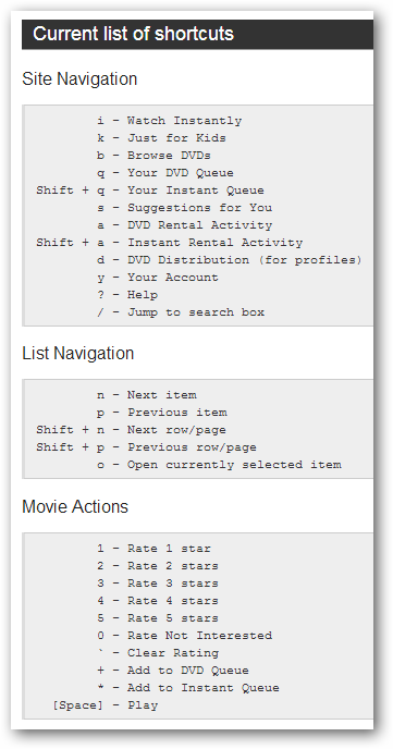 using-the-netflix-keyboard-shortcuts