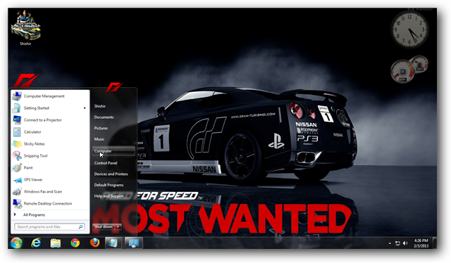 Need For Speed Most Wanted Theme for Windows