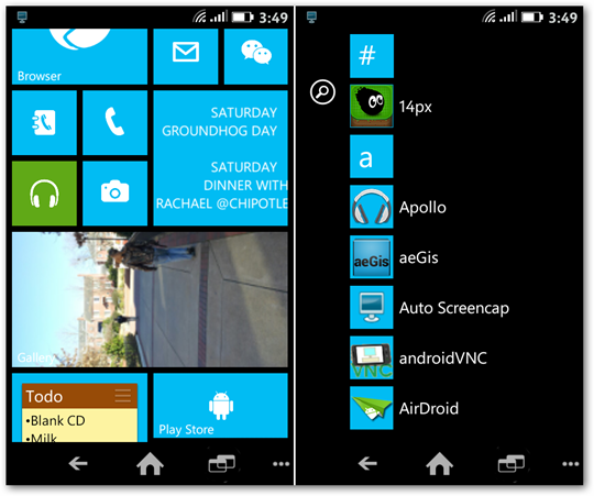 Android Launcher 8 Windows Phone