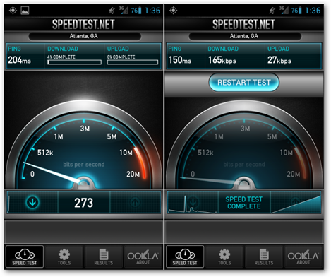 android-3g-sprint-speed-test