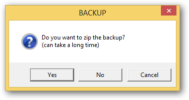 (6) backup now